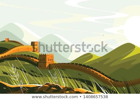 Chiny krajobraz podróży projektu chińczyk Zdjęcia stock © jossdiim