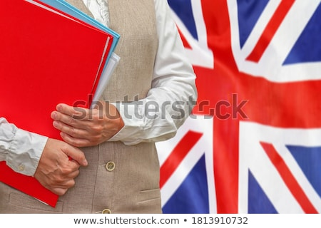 Folder with flag of united kingdom Stock photo © MikhailMishchenko