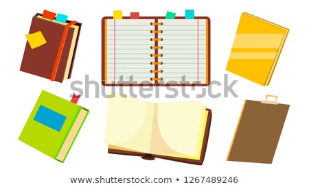 Notebook Set Vector. Office Personal Dairy Notepad. Opened And Closed. Isolated Cartoon Illustration Stock photo © pikepicture