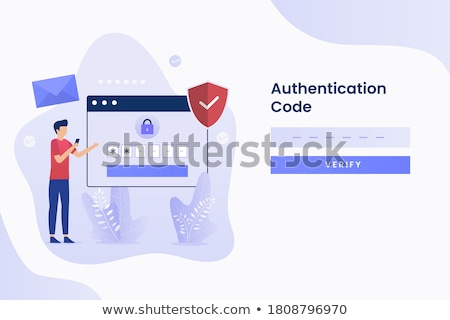 Secure and number one posters vector illustration Stock photo © robuart