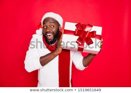 Adam sakal neşeli Noel komik Stok fotoğraf © ruslanshramko