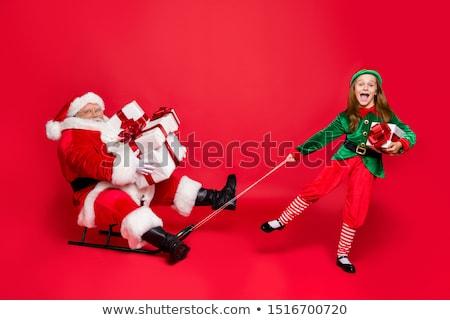 サンタクロース · 子供 · ベクトル · 幸せ · 子供 · 伝統的な - ストックフォト © robuart