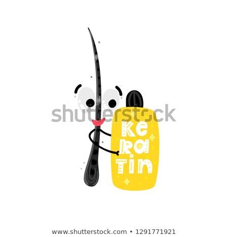 egészséges · boldog · haj · kezelés · szépség · törődés - stock fotó © user_10144511