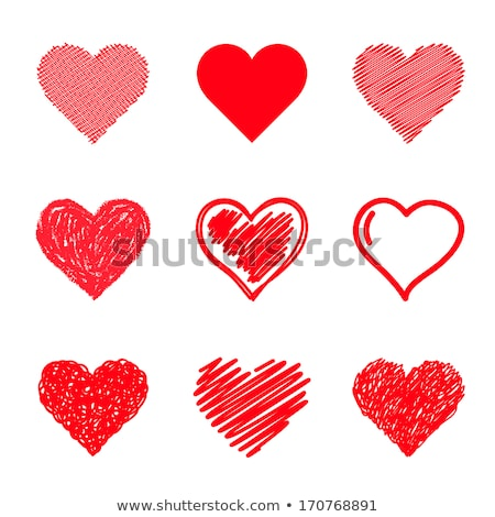 стилизованный красный сердце символ икона вектора Сток-фото © blaskorizov