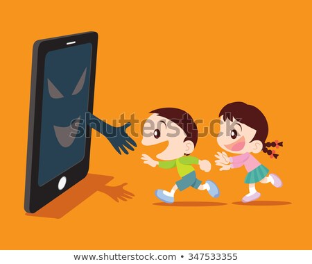 Covert disaster from smartphone concept illustration Stock photo © watcartoon