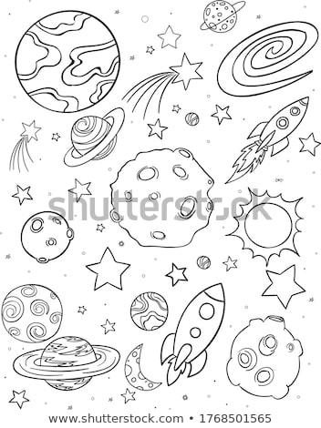 aventura · alienígena · nave · espacial · céu · globo · lua - foto stock © netkov1