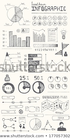 White Board with Chart Info Vector Illustration Stock photo © robuart