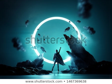 Conceptual Futuristic Space Women Posing Stock photo © solarseven