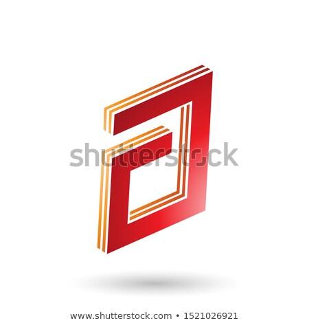 Narancs piros négyszögletes réteges levél terv Stock fotó © cidepix