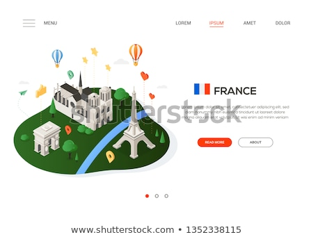 Visit France - modern colorful isometric web banner Stock photo © Decorwithme