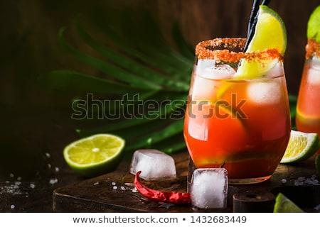 Lata koktajl lodu cytrus owoce Zdjęcia stock © grafvision