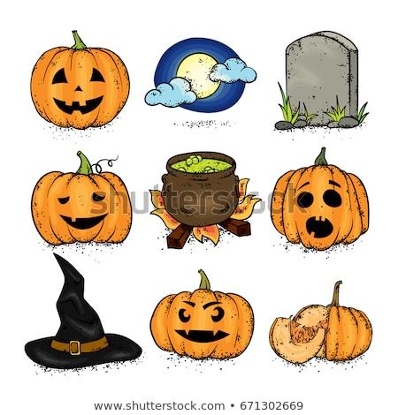 Cold color Illustration of Halloween pumpkin Stock photo © Blue_daemon