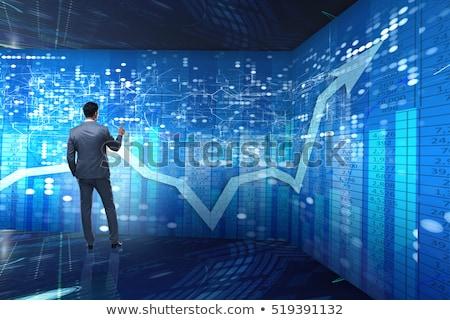 Zakenman futuristische voorraad handel business computer Stockfoto © Elnur