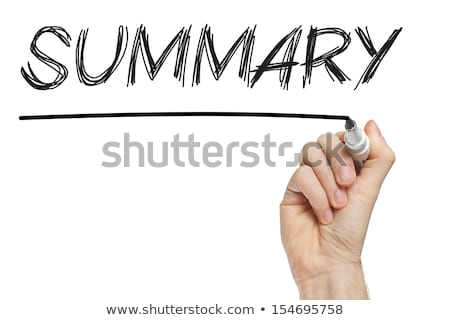 Word Summary Handwritten With White Marker Stock photo © ivelin