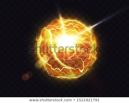colorful electric fireballs isolated illustrations stock photo © robuart