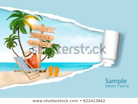 vector vacation sea beach collage Stock photo © VetraKori