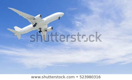 Passenger Airliner flying in the clouds Stock photo © lightpoet