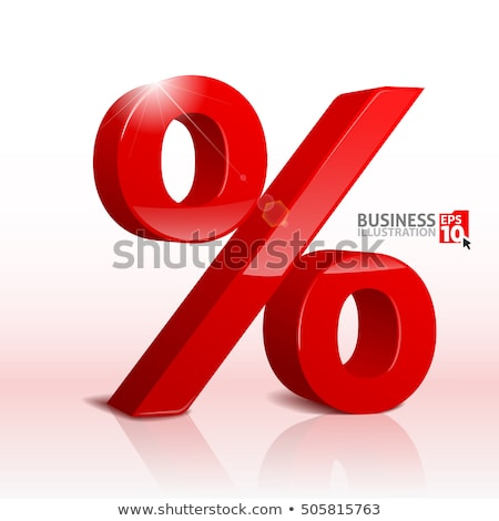 Red percentage sign 3D Stock photo © djmilic