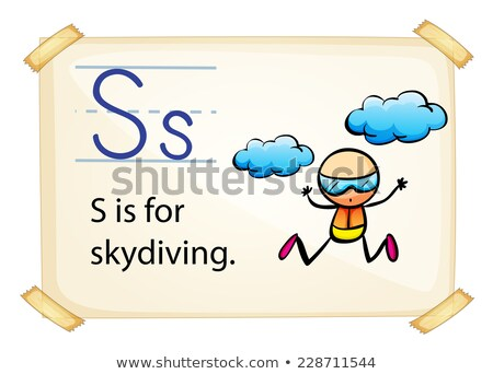 A letter S for skydiving Stock photo © colematt