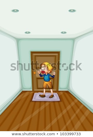 building entrance door and mat on floor vector stock photo © pikepicture