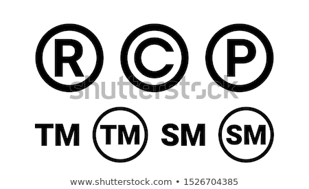 Copyright And Registered Trademark Icon Set Vector Stock photo © pikepicture