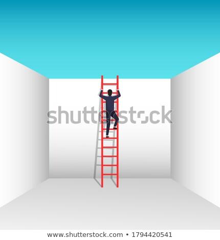 решения бизнеса проблема рабочие люди скалолазания Сток-фото © robuart