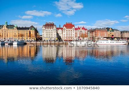 vue · Stockholm · central · Suède · temps · juste - photo stock © borisb17