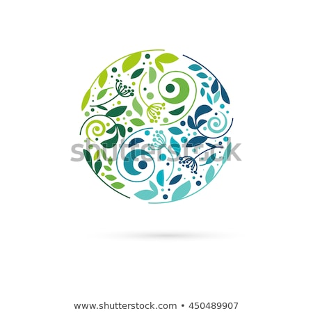 Alternative, Chinese medicine and wellness, herbal, zen meditation concept - vector yin yang icon, l Stock photo © marish