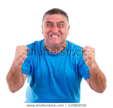 Agressivo zangado homem isolado branco cara Foto stock © Elnur