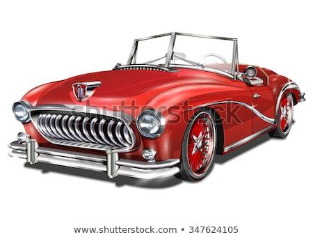 vintage car repair emblems stock photo © netkov1