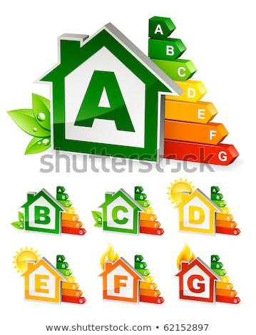 Ház energia fű épület otthon osztály Stock fotó © Wetzkaz