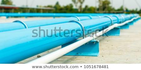 Pvc pipe sezione metal isolato rendering 3d Foto d'archivio © albund