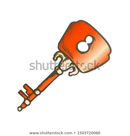 Key Ethnic Access Device Color Ink Hand Drawn Vector Stock photo © pikepicture