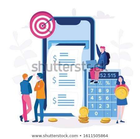 Nyugdíj előkészítés kereset alap költségvetés társadalombiztosítás Stock fotó © RAStudio