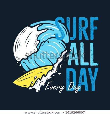 Surfing przygoda graficzne tshirt vintage Zdjęcia stock © JeksonGraphics
