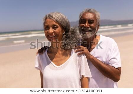 Elöl kilátás idős férfi áll kezek Stock fotó © wavebreak_media
