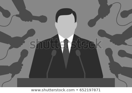 Işadamı politikacı konuşmacı podyum komik Stok fotoğraf © rogistok
