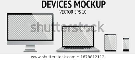 Computer portatile digitale gadget colore vettore moderno Foto d'archivio © pikepicture