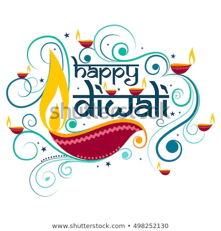 happy diwali creative background with indian style decoration Stock photo © SArts