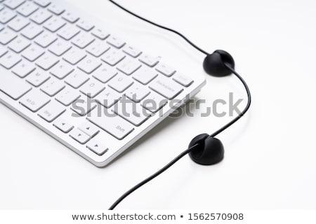 Toetsenbord kabel organisator geïsoleerd witte laptop Stockfoto © AndreyPopov
