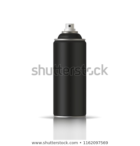 white spray can with black cap 3d stock photo © djmilic
