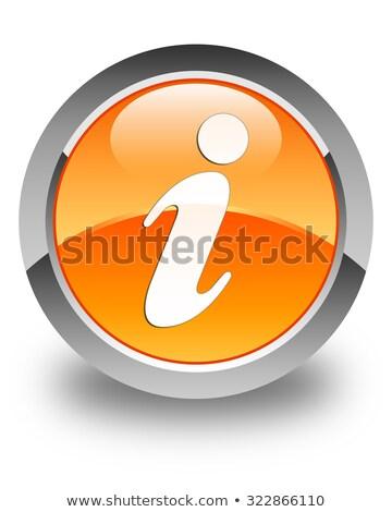 оранжевый · информации · кнопки · изолированный · белый - Сток-фото © cidepix