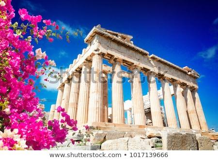Parthenon tempel Athene heldere blauwe hemel Acropolis Stockfoto © neirfy