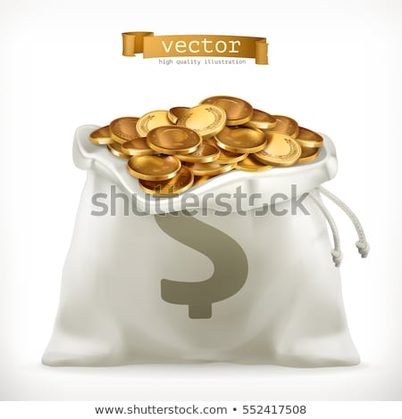 Jackpot in Casino, Bag with Dollar Money and Coins Stock photo © robuart