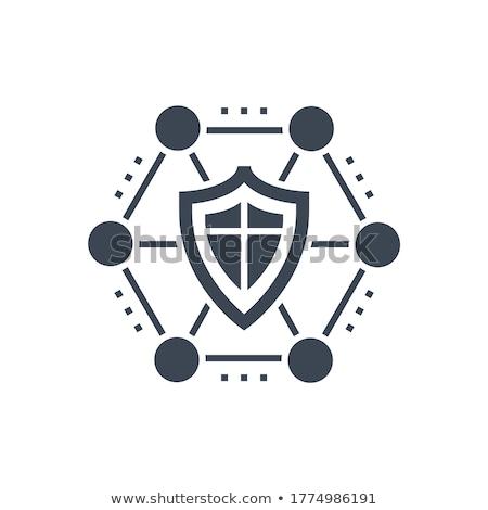Safe related vector glyph icon. Stock photo © smoki