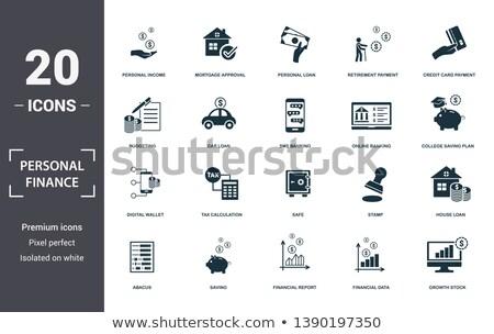 Betaaldag lening collectie communie vector Stockfoto © pikepicture