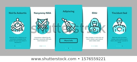 Super Hero Onboarding Elements Icons Set Vector Stock photo © pikepicture