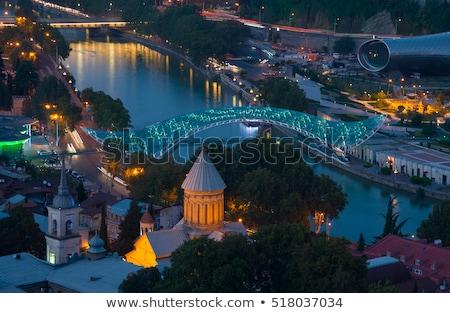 Aéreo noche vista Georgia iluminado Foto stock © boggy