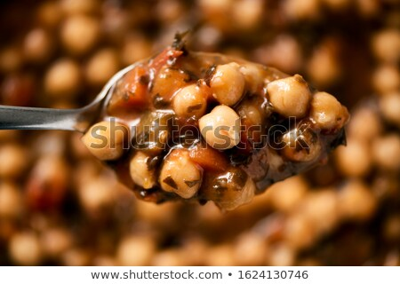 vegetarian chickpea and kombu stew Stock photo © nito