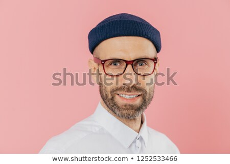 Shot aangenaam naar man bril Stockfoto © vkstudio